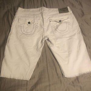 Premium white shorts